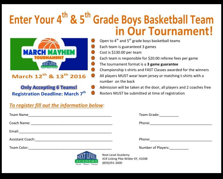 March basketball tourney
